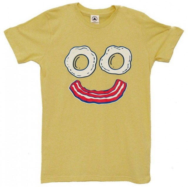 funny face breakfast tee shirt