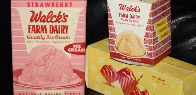 Vintage ice cream packaging