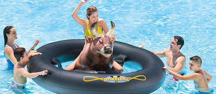 Ride The Inflatabull The Inflatable Bull Riding Pool