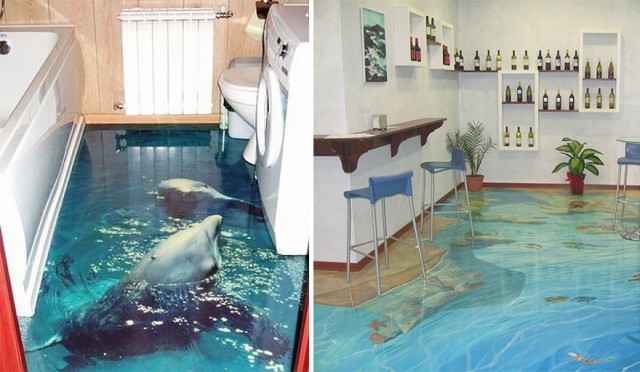3D Liquid Floors!!!! They Really LOOK LIKE WATER!! - Pee ...