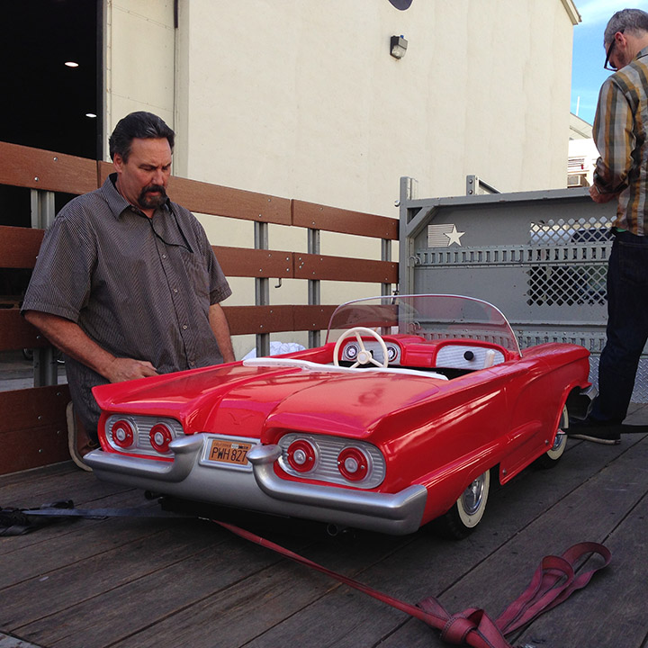 miniature t-bird at Paramount with Russ Tolliver and Tim Orr