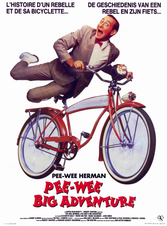 Pee-wee's Big Adventure poster from Belgium