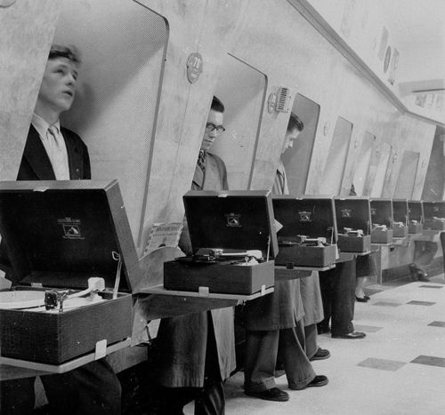 record store listening booths