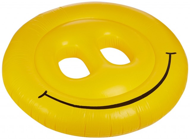 smiley face pool raft